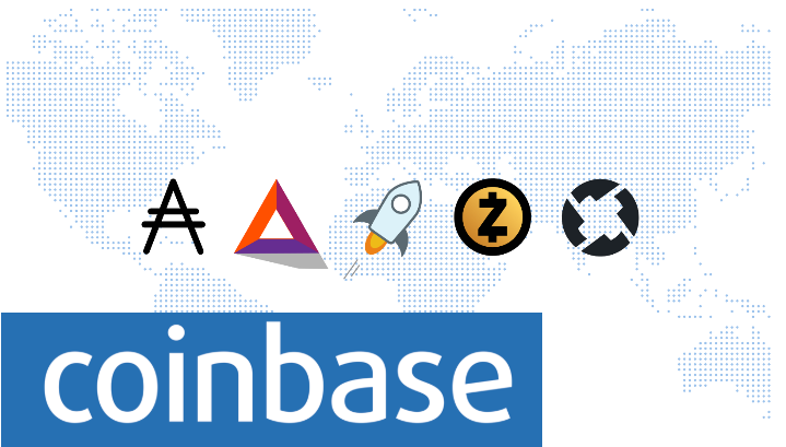 Coinbase  is exploring supports for Cardano, Stellar, BAT, 0x, and Zcash